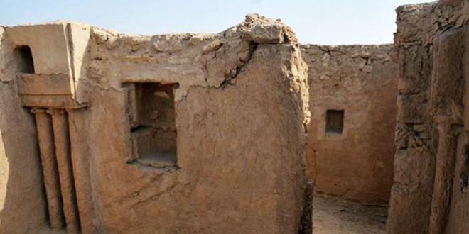 آثار كنيسة الجبيل، شمال محافظة الجبيل بالمملكة العربية السعودية، ويعتقد أنها تتبع للمذهب النسطوري