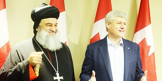 رئيس الوزراء الكندي يستقبل مار اغناطيوس أفرام الثاني
