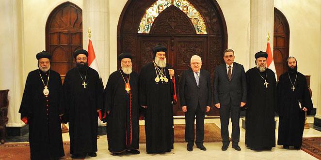 الرئيس العراقي يستقبل البطريرك مار اغناطيوس افرام الثاني