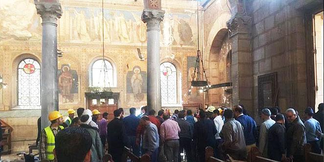 تفجير داخل الكنيسة البطرسية في القاهرة، واستشهاد 25 وإصابة العشرات (فيديو)