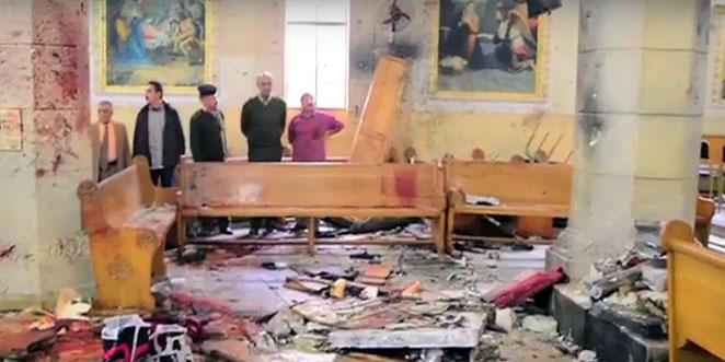 عمل إرهابي مؤلم .. عشرات القتلى والجرحى بتفجير داخل كنيسة مار جرجس في طنطا المصرية (فيديو)